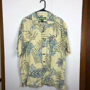Tonny Barbados Silk Hawaiian Button Down Sz M